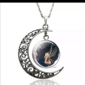 Crescent moon fairy necklace